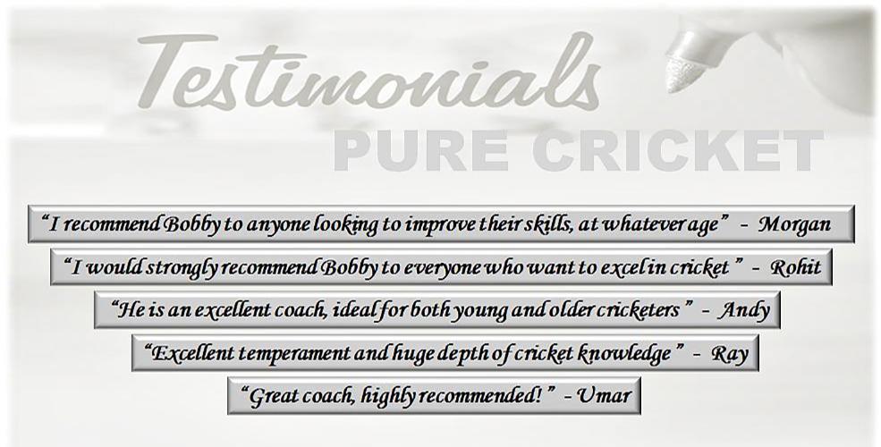 Cricket training testimonial